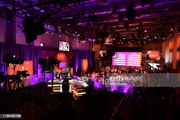 Overview of the WNBA Draft 2019 on April 10 2019 at Nike New York Headquarters in New York New York NOTE TO USER User expressly acknowledges and...