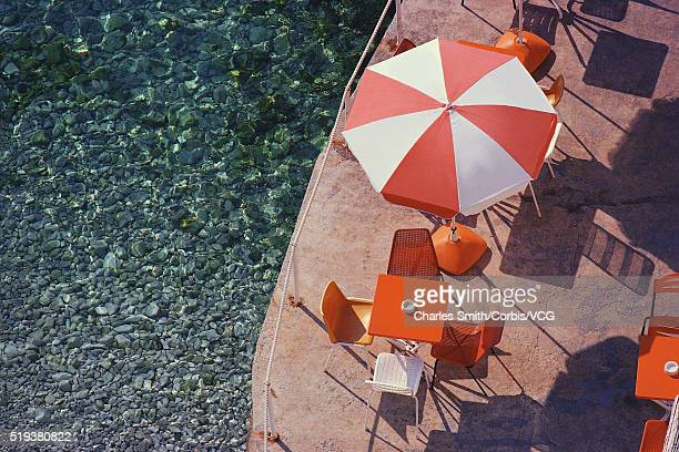 Overview of Umbrella on Seaside Deck