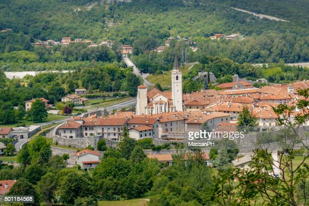 overview of venzone - udine stock photos and pictures
