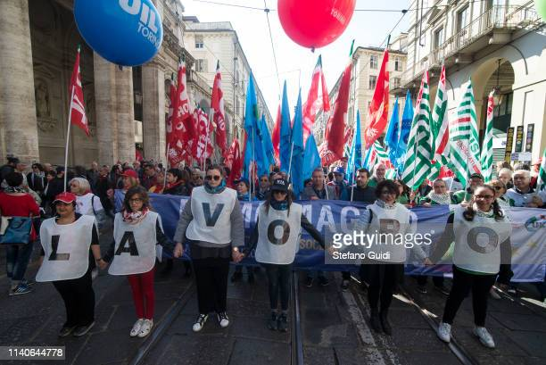 Overview of workers during the march of the May Day procession The Workers' Day or May Day is celebrated on 1 May each year in many countries of the...