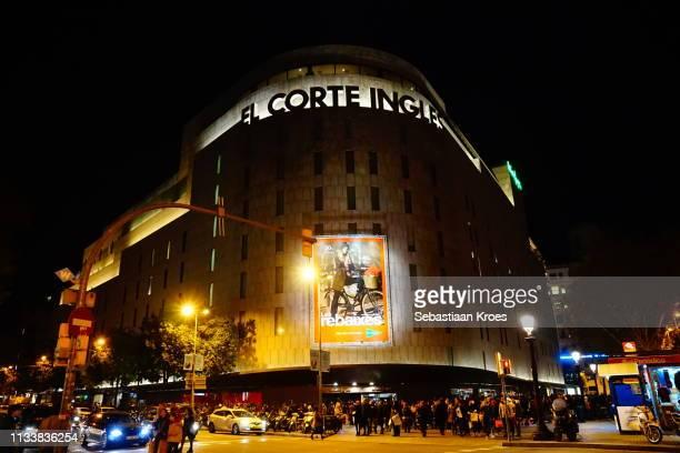 Overview on Department Store, El Corte Ingles, Barcelona, Spain