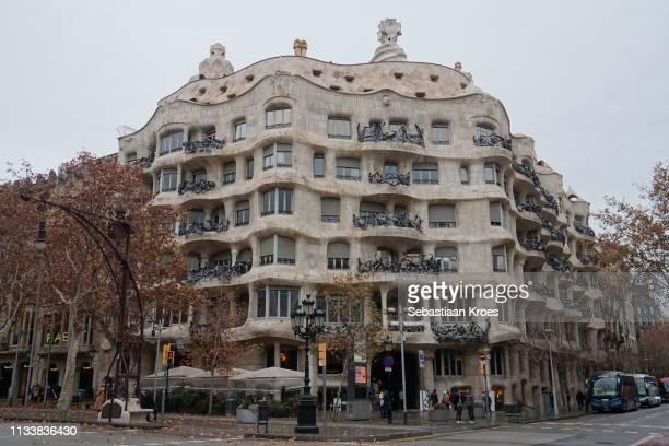Overview on La Pedrera Casa Milà, Barcelona, Spain