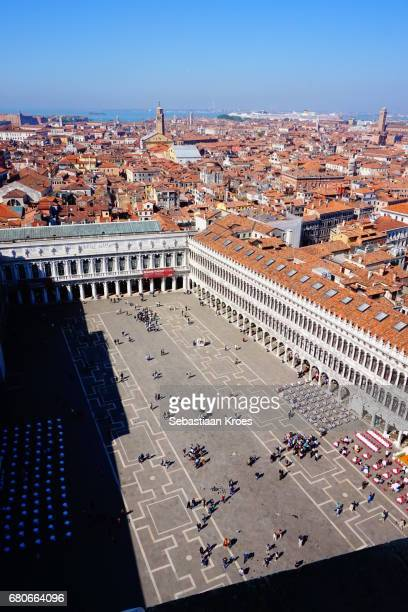 Overview on Piazza San Marco, People, Surroundings, Venice, Italy