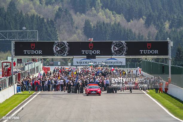 Overview on the crowded grid before the start of Round 2 of the FIA World Endurance Championship at Spa-Francorchamps Circuit.