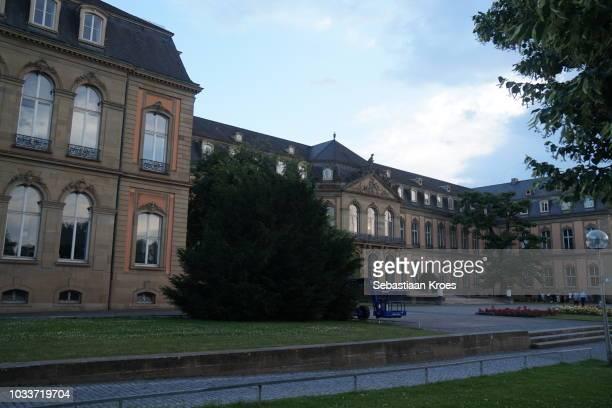 Overview on the Neues Schloss, Dusk, Stuttgart, Germany