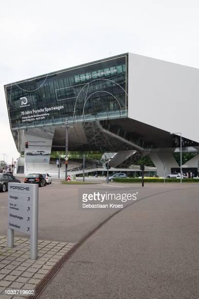 Overview on the Porsche Museum, Stuttgart, Germany