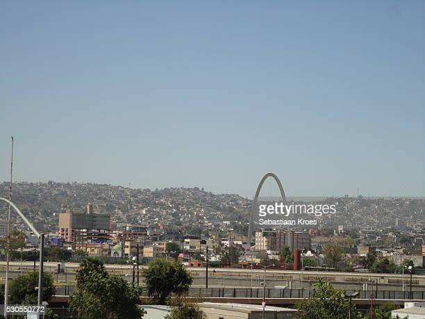 Overview on Tijuana, Seen from San Diego, California, United States of America