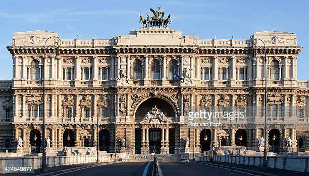 CONTENT] Overview picture of the neorenaissance building Palazzo di Giustizia the palace of Justice which currently hosts Italy's main law courts...