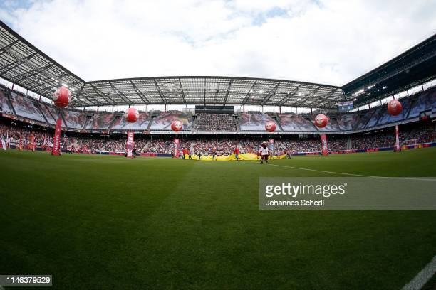 Overview Red Bull Arena during the tipico Bundesliga match between RB Salzburg and SKN St Poelten at Red Bull Arena on May 26 2019 in Salzburg Austria