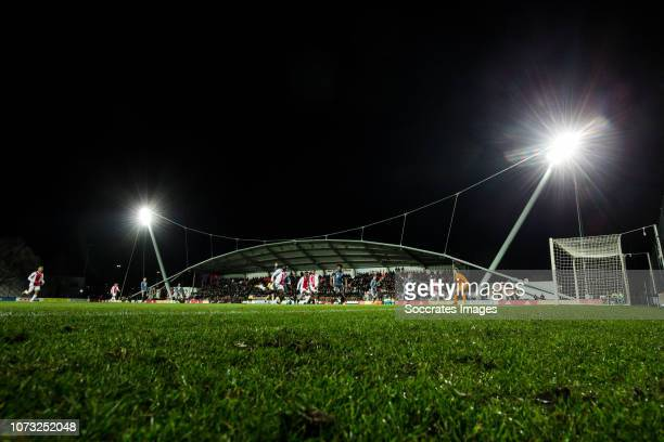 Overview stadium from Ajax Youth Academy during the match between Ajax U19 v Bayern Munchen U19 on December 12 2018