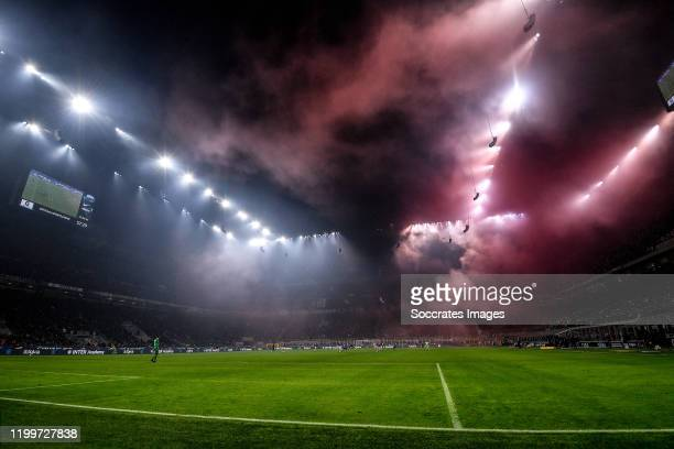 Overview stadium from FC Internazionale Milano during the Italian Serie A match between Internazionale v AC Milan at the San Siro on February 9 2020...