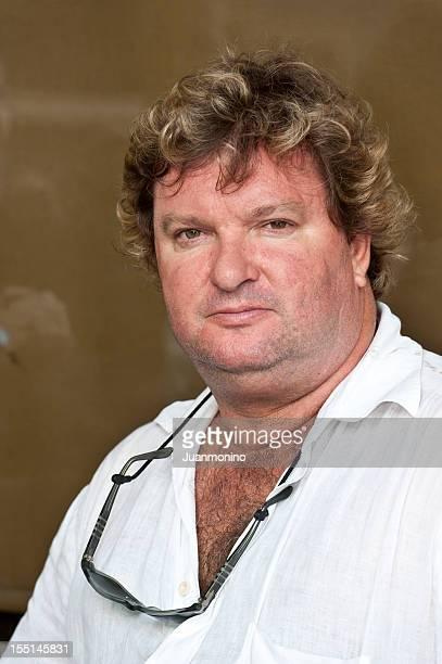 Obèse Caucasien homme d'âge mûr