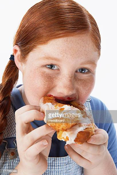 Overweight Child Eating Junk Food