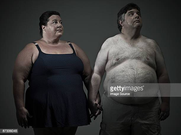 overweight couple - big fat white women stock pictures, royalty-free photos & images