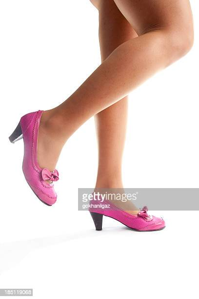 overweight female legs - fat women in high heels stock pictures, royalty-free photos & images