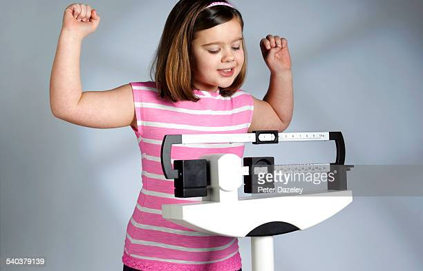Overweight girl gets weight down