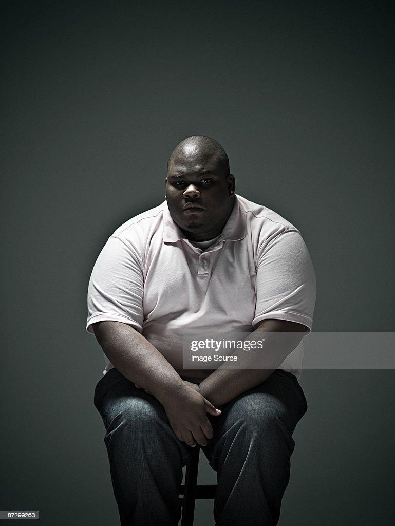 Overweight man : Stock Photo
