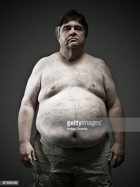overweight man - chubby men stock photos and pictures