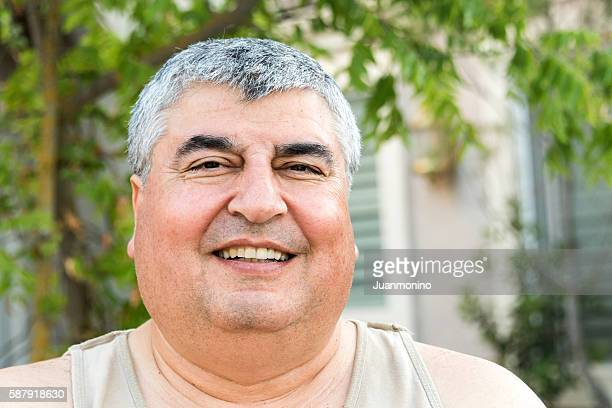 Overweight Mature man