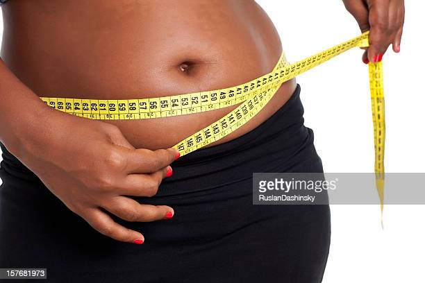 overweight measuring - images of fat black women stock photos and pictures