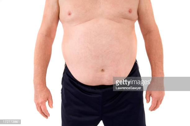 overweight senior man