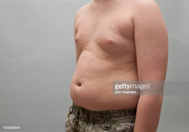 Overweight young boys Torso