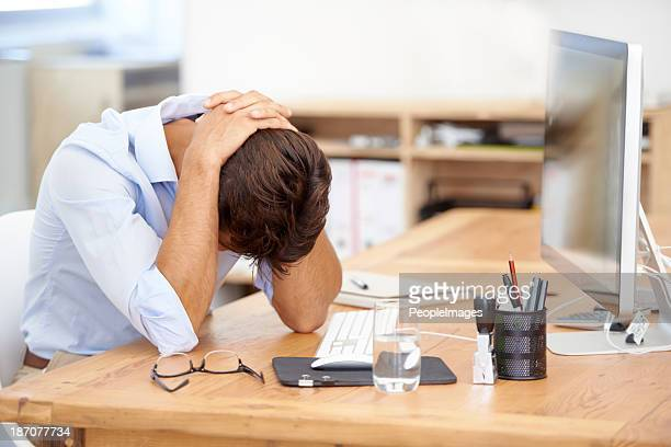 overworked and exhuasted - in front of stock photos and pictures