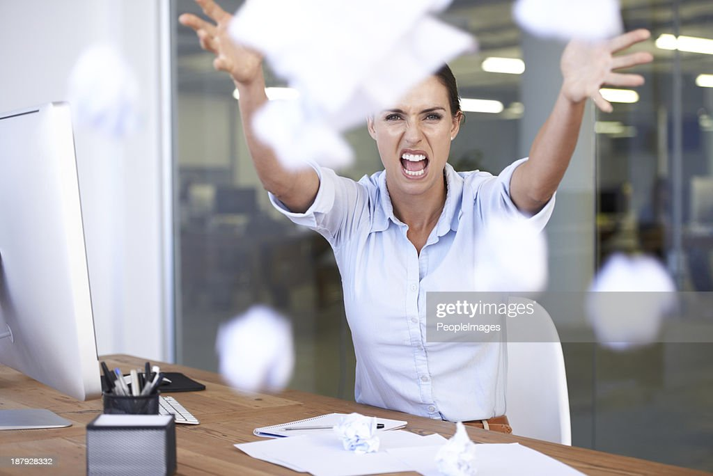 Overworked and stressed! : Stock Photo