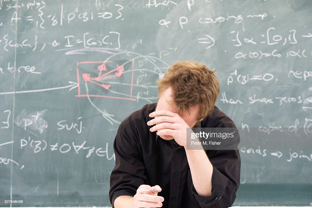 Overworked Mathematician : Stock Photo