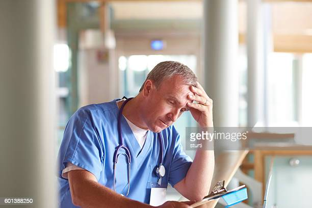 overworked surgeon
