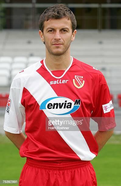 Ovidiu Burca poses during the Bundesliga 2nd Team Presentation of FC Energie Cottbus on July 13 2007 in Jena Germany