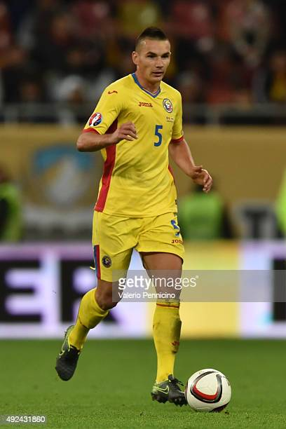 Ovidiu Hoban of Romania in action during the UEFA EURO 2016 Qualifier between Romania and Finland on October 8 2015 in Bucharest Romania
