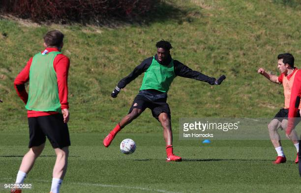 Ovie Ejaria during a Sunderland training session at The Academy of Light on April 5 2018 in Sunderland England