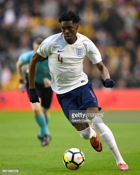 Ovie Ejaria of England during the International Friendly between England U21 and Romania U21 at Molineux on March 24 2018 in Wolverhampton England