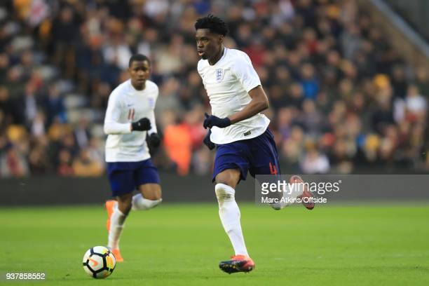 Ovie Ejaria of England during the U21 International Friendly match between England U21 and Romania U21 at Molineux on March 24 2018 in Wolverhampton...