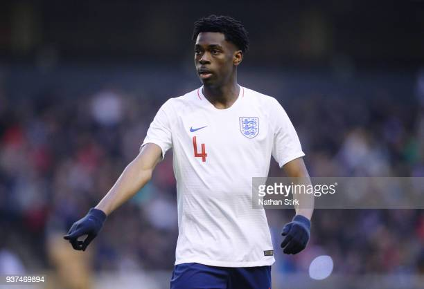 Ovie Ejaria of England U21 in action during the international friendly match between England U21 and Romania U21 at Molineux on March 24 2018 in...