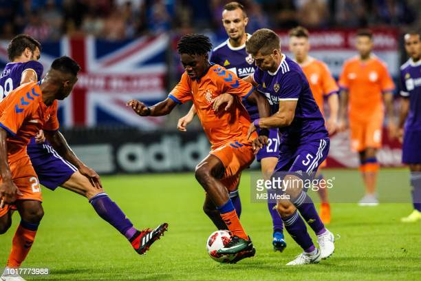 Ovie Ejaria of FC Rangers and Blaz Vrhovec of Maribor in action during 2nd Leg football match between NK Maribor and Rangers FC in 3rd Qualifying...