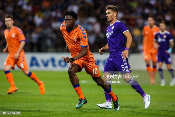 Ovie Ejaria of FC Rangers and Blaz Vrhovec of NK Maribor during 2nd Leg football match between NK Maribor and Rangers FC in 3rd Qualifying Round of...