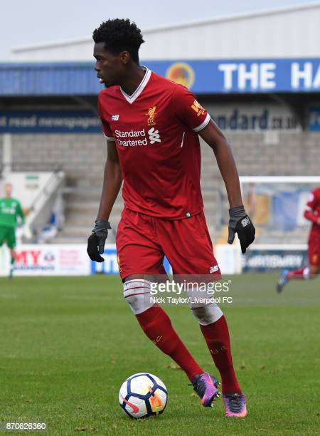 Ovie Ejaria of Liverpool in action during the U23 Premier League Cup between Liverpool and Bristol City at The Swansway Chester Stadium on November 5...