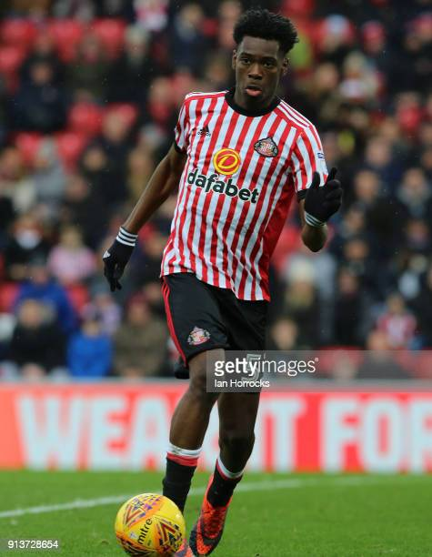 Ovie Ejaria of Sunderland during the Sky Bet Championship match between Sunderland and Ipswich Town at Stadium of Light on February 3 2018 in...