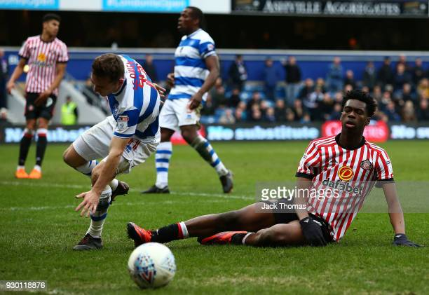Ovie Ejaria of Sunderland reacts during the Sky Bet Championship match between QPR and Sunderland at Loftus Road on March 10 2018 in London England
