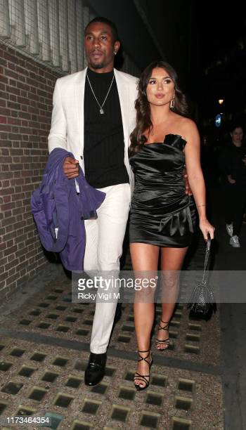 Ovie Soko and India Reynolds seen attending The TV Choice Awards at London Hilton Park Lane on September 09 2019 in London England
