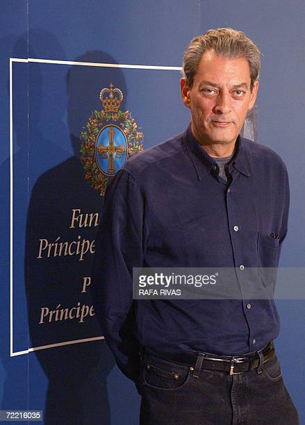 US writer Paul Auster takes part in a press conference 18 October 2006 in the northern Spanish city of Oviedo where he will receive the the 2006...