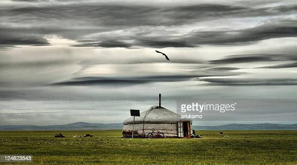 ovorhangay aimag, mongolia - hut stock pictures, royalty-free photos & images