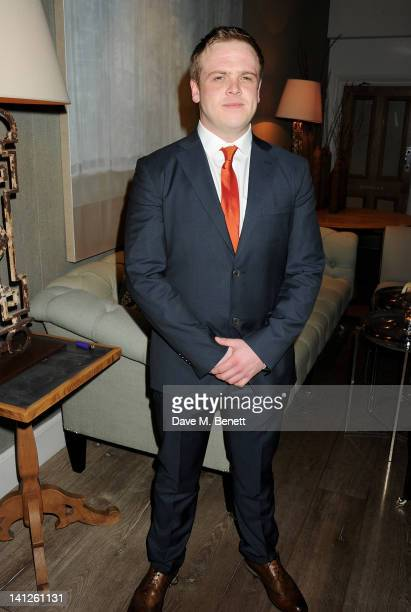 Owain Arthur attends an after party celebrating the press night performance of 'One Man Two Guvnors' as it transfers to the Theatre Royal Haymarket...