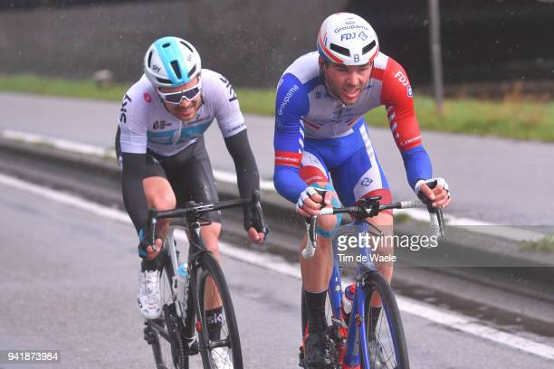 Owain Doull of Great Britain and Team Sky / Antoine Duchesne of Canada and Team Groupama FDJ / during the 106th Scheldeprijs 2018 a 200,4km race from...