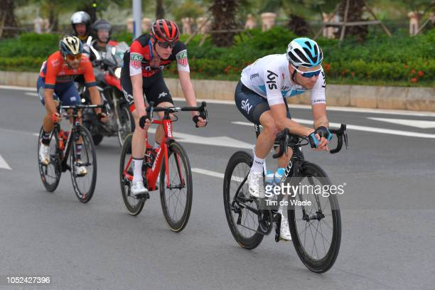 Owain Doull of Great Britain and Team Sky / Nathan Van Hooydonck of Belgium and Bmc Racing Team / Manuele Boaro of Italy and Team BahrainMerida /...