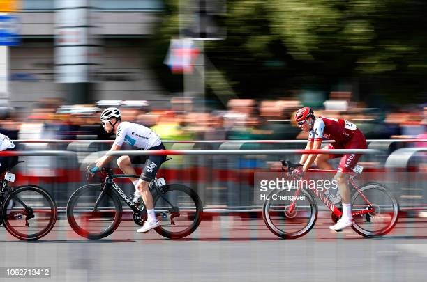 Owain Doull of Great Britain and Team Sky / Nils Politt of Germany and Team Katusha-Alpecin / during the 2nd Tour de France Shanghai Criterium / TDF...