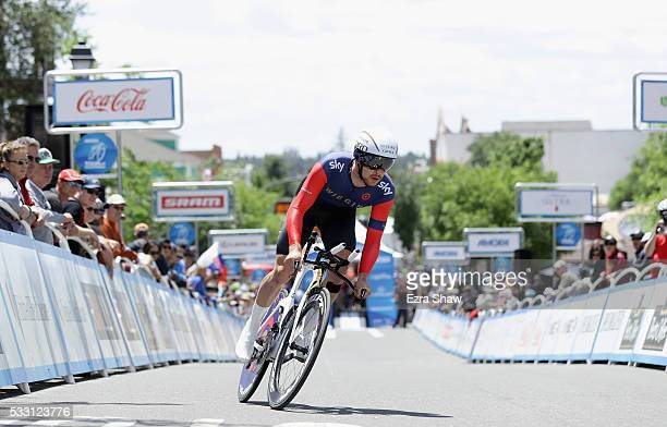 Owain Doull of Great Britain riding for Team Wiggins rides in the individual time trial during Stage 6 of the Amgen Tour of California on May 20 2016...