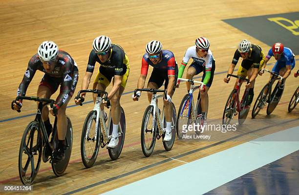 Owain Doull of Team Wiggins and Great Britain in action during the Elite Championship Scratch Race during Round 6 of the Revolution Series at...
